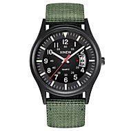 זול -בגדי ריקוד גברים שעונים צבאיים קווארץ ניילון שחור / כחול / חום לוח שנה כרונוגרף עיצוב חדש אנלוגי קלסי חוץ - ירוק כחול ירוק כהה שנה אחת חיי סוללה