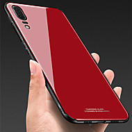 cheap -Case For Huawei Huawei P30 / Huawei P30 Pro Shockproof Back Cover Solid Colored Hard Tempered Glass for Huawei P20 / Huawei P20 Pro / Huawei P20 lite