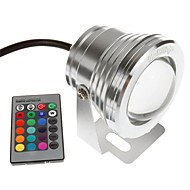 cheap -YouOKLight 1pc 10 W Underwater Lights Remote Controlled RGB 12 V Swimming pool 1 LED Beads