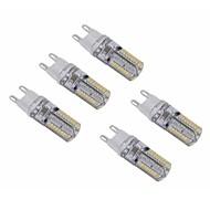 abordables -SENCART 5pcs 3 W 5 W Ampoules Globe LED 200 lm G9 E12 / E14 T 64/104 Perles LED SMD 3014 Imperméable Décorative Blanc Chaud Blanc Froid 220-240 V