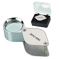 cheap -Portable Folding Magnifying glass 30x 30x21mm Loupe Magnifier Magnifying Triplet Jewelers Eye Glass Jewelry Diamond