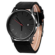 Men's Dress Watch Quartz Leather Black / Brown Calendar / date / day Casual Watch Analog Casual Fashion - Brown Black / White Khaki One Year Battery Life / Stainless Steel