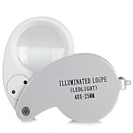cheap -Portable 40X Mini Pocket Folding Magnifier Handheld Magnifying Tool Eye Jeweler Loupe With LED Light Lamp