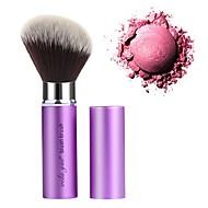 お買い得  -プロ メイクブラシ 1個 プロフェッショナル 合成 人工毛 アルミニウム にとって チーク 化粧用ブラシ