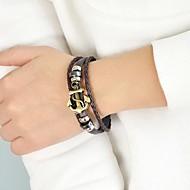 저렴한 -여성용 돛대 포장 팔찌 돛대 세련 Mariner 팔찌 보석류 블랙 / 커피 제품 일상