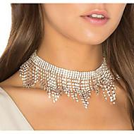 זול -בגדי ריקוד נשים שרשראות מחרוזת יהלום מדומה פאר כסף 30 cm שרשראות תכשיטים 1pc עבור חתונה מועדונים