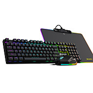 abordables -machiniste clavier usb filaire souris combo clavier rétro-éclairé / portable clavier mécanique souris de jeu / lumineuse 3001-8000 dpi