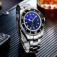 Χαμηλού Κόστους -Ανδρικά μηχανικό ρολόι Αυτόματο κούρδισμα Ασημί 50 m Ανθεκτικό στο Νερό Ημερολόγιο Νυχτερινή λάμψη Αναλογικό Πολυτέλεια Μοντέρνα - Μαύρο Μπλε Μαύρο / Άσπρο