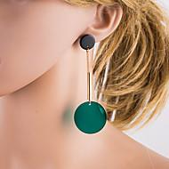 Χαμηλού Κόστους -Γυναικεία Πράσινο Γεωμετρική Κρεμαστά Σκουλαρίκια Σκουλαρίκια Ευρωπαϊκό Κοσμήματα Πράσινο Για Καθημερινά 1 Pair
