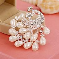 ieftine -Pentru femei Broșe Imitație de Perle Diamante Artificiale Păun Stilat Broșă Bijuterii Alb Pentru Zilnic