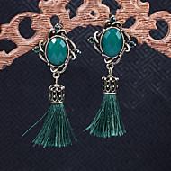 Χαμηλού Κόστους -Γυναικεία Κλασσικό Κρεμαστά Σκουλαρίκια θαυμαστής σκουλαρίκια Ρητίνη Σκουλαρίκια Κλασσικό Βίντατζ Ευρωπαϊκό Etnic Κομψό Κοσμήματα Κόκκινο / Πράσινο / Μπλε Για Πάρτι Απόκριες Δουλειά Φεστιβάλ 1 Pair
