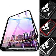 Capinha Para Samsung Galaxy Galaxy S10 / Galaxy S10 Plus Antichoque / Transparente / Magnética Capa Proteção Completa Sólido Rígida Vidro Temperado / Metal para S9 / S9 Plus / S8 Plus