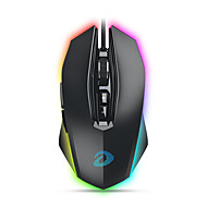 baratos -dareu em925 pro wired usb mouse gaming óptico multi-cores backlit 12000 dpi 7 pcs chaves