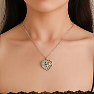 levne -Dámské Náhrdelník Charm náhrdelník Umělé diamanty Stříbrná 47.5 cm Náhrdelníky Šperky 1ks Pro Denní Škola Street Dovolená Festival