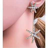 Χαμηλού Κόστους -Γυναικεία Ασημί Χρυσό Γεωμετρική Κρεμαστά Σκουλαρίκια Προσομειωμένο διαμάντι S925 Sterling Silver Σκουλαρίκια Ευρωπαϊκό Κοσμήματα Χρυσό / Ασημί Για Καθημερινά 1 Pair