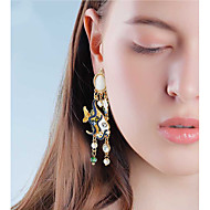 preiswerte -Damen Tropfen-Ohrringe Künstliche Perle Ohrringe Schmuck Gelb Für Bühne 1 Paar