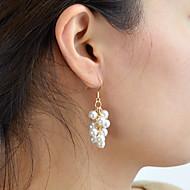 preiswerte -Damen Klassisch Tropfen-Ohrringe Perlen Ohrringe Grundlegend Elegant Schmuck Weiß Für Hochzeit Party Verlobung Festival 1 Paar