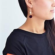 저렴한 -여성용 기하학적 인 드랍 귀걸이 모조 진주 귀걸이 볼 낭만적 패션 귀여운 스타일 보석류 화이트 / 그레이 / 와인 제품 일상 1 쌍