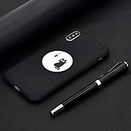 baratos -Capinha Para Apple iPhone XR / iPhone XS Max Áspero / Estampada Capa traseira Gato Macia TPU para iPhone XS / iPhone XR / iPhone XS Max