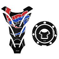 billige -5d ægte carbon fiber motorcykel brændstof tank pad dekaler gas cap cover klistermærker til honda cb400 cb1300 cbr250 cb190r cb750 cbr600r