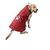 billige -Hunde Katte Regnfrakke Vest Hundetøj Ensfarvet Rød Blå Nylon Kostume Til Husky Labrador Alaskan malamutes Efterår Vinter Unisex Opvarmninger Afslappet / Sportslig