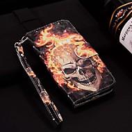 tanie -case dla apple iphone xr / iphone xs max wzór / flip / z podstawą pełne etui na ciało laser 3d płomień czaszka twarda pu skóra dla iphone 6/6 plus / 6s / 6s plus / 7/7 plus / 8/8 plus / xs / x