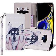 preiswerte -Hülle Für Samsung Galaxy Note 9 Geldbeutel / Kreditkartenfächer / mit Halterung Ganzkörper-Gehäuse Hund Hart PU-Leder für Note 9