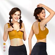 billige -Avtagbar pad SportsBH-er Polstret Medium støtte til Yoga & Danse Sko Løp Trening Gul Mørk Rosa Kakifarget Pustende Push up-bukser Dame Mote