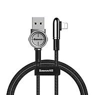 abordables -baseus lightning cable 1.0m (3ft) tressé / charge rapide nylon / aluminium passionnant jeu mobile adaptateur de câble usb pour iphone