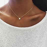 billige -Dame Klassisk Halskædevedhæng Sølvbelagt Guldbelagt Stjerne Koreansk Mode Sej Smuk Guld Sølv 40 cm Halskæder Smykker 1pc Til Gave Daglig