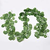 12pcs λουλούδι αμπέλου 72pcs φύλλο 1 κομμάτι 2m διακόσμηση σπίτι τεχνητή φύση κισσού γιρλάντα φυτό αμπέλου ψεύτικο φύλλο λουλούδι ερπετό πράσινο κισσός στεφάνι