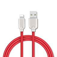 billige -lyn adapter / kabel 1,5m (5ft) hurtigladning sinklegering usb kabel adapter for iphone / macbook