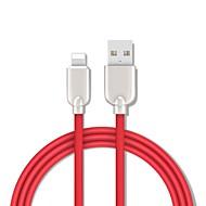 baratos -Adaptador de relâmpago / cabo de 1.5 m (5 pés) de carga rápida de liga de zinco adaptador de cabo usb para iphone / macbook