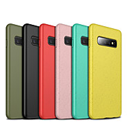 billige -Etui Til Samsung Galaxy Galaxy S10 / Galaxy S10 Plus / Galaxy S10 E Stødsikker / Støvsikker Bagcover Ensfarvet Blødt TPU for Galaxy S10 / Galaxy S10 Plus / Galaxy S10 E