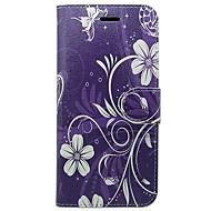 preiswerte -Hülle Für Apple iPhone X / iPhone XS Kreditkartenfächer / Flipbare Hülle Ganzkörper-Gehäuse Solide / Blume Hart PU-Leder für iPhone XS / iPhone X / iPhone 8 Plus