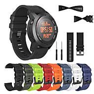 billige -erstatning armbåndsur watch band armbåndsbelte silagagel mykt båndrem til garmin fenix 2 smart armbånd med verktøy
