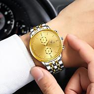 povoljno -Muškarci Nehrđajući čelik Kvarc Srebro / Zlatna 30 m Kronograf Kreativan New Design Analog Ležerne prilike Minimalistički - Silver / Black Zlatni + crna Gold / Bijela Dvije godine Baterija Život