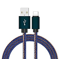 رخيصةأون -مهايئ Lightning / cable 1.0m (3ft) مضفر / سريع محول كابل USB من القماش أكسفورد لآيفون