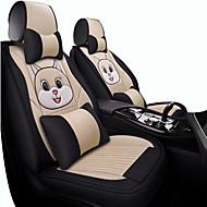 abordables -cinco asientos / motor en general cubierta de asiento / cojín para automóvil tejido de dibujos animados todo el conjunto de asiento de lino envolvente invierno nuevo lindo seda cuatro estaciones