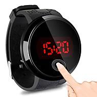 levne -Pánské Digitální hodinky Digitální Pryž Černá 30 m Voděodolné Hodinky na běžné nošení Cool Digitální Módní - Černá Jeden rok Životnost baterie / Nerez