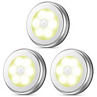 billige -1pc Natlys Varm hvid / Kold hvid AAA Batterier Powered Menneskekroppssensor / Trådløs Batteri