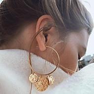 levne -Dámské Mince Visací náušnice Náušnice - Kruhy Náušnice Evropský Moderní Geleneksel Šperky Zlatá / Stříbrná Pro Párty Dar Denní Street Práce 1 Pair
