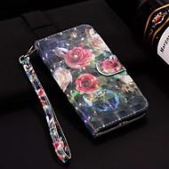 tanie -case dla apple iphone xr / iphone xs max wzór / flip / z podstawą pełne etui na lasery 3d rose hard pu skóra dla iphone 6/6 plus / 6s / 6s plus / 7/7 plus / 8/8 plus / xs / x