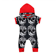 cheap -Baby Boys' Active / Basic Print Long Sleeve Romper Red