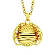 levne -Pánské Dámské Náhrdelníky s přívěšky Geometrické Anděl Módní Chrome Bílá Stříbrná Růžové zlato 62 cm Náhrdelníky Šperky 1ks Pro Dar Denní