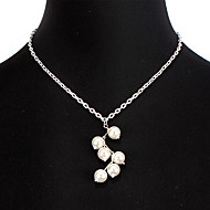 hesapli -Kadın's Kolye Aluminyum Altın Gümüş 50 cm Kolyeler Mücevher 1pc Uyumluluk Günlük Okul Cadde Tatil Festival