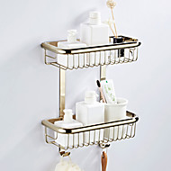 cheap -Bathroom Shelf Multilayer / New Design Antique / Country Brass 1pc - Bathroom / Hotel bath Double Wall Mounted