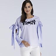 abordables -Tee-shirt Femme, Rayé Basique / Elégant Bleu US8