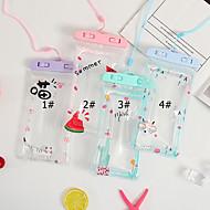 ieftine -Maska Pentru Apple Παγκόσμιο Rezistent la apă / Anti Praf / Rezistent la Apă Sacoșă Impermeabilă Desene Animate Moale PVC pentru Παγκόσμιο