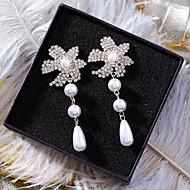 tanie -Damskie Kolczyki drop Kolczyki Kolczyki zwisają Sztuczna perła Imitacja diamentu Kolczyki Kropla Rozgwiazda Europejskie Słodkie Moda Elegancja Biżuteria Złoty Na Ślub Impreza Rocznica Zaręczynowy